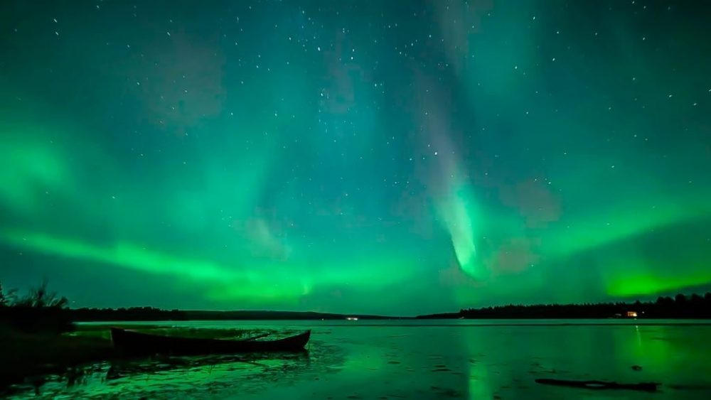 Northern lights Autumn